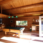 All guests can enjoy the game room, hot tub and sauna.