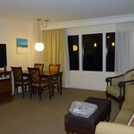  The lounge/dining area of our suite