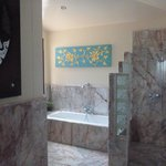  Our gorgeous bathroom stocked with quality products