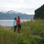 Explore the pebble beach of Fox Island from Kenai Fjords Wilderness Lodge
