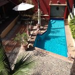 Pool and courtyard at Posada de las Flores