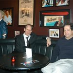 "Comedians Bob Zany & Harry Basil hang out in the club's famous ""Rodney Booth"" showing some Respe"