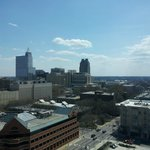 View of Downtown Raleigh NC from room.