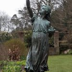 First flight statue in garden