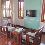  private reception room of the suite in bungalow