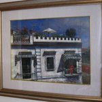 The house has many paintings, this one in particular is of Pierre's grandmother's house
