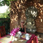 Breakfast room with buddha image
