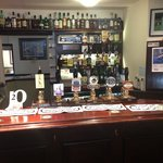  The hotel&#39;s bar area - equipped with real ales