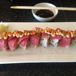  Dragon roll...  the best sushi roll I have ever had!