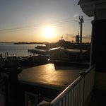 Sunset from the second floor porch at Woods Hole Inn