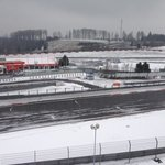 Grand Prix track in snow