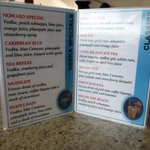 Drink Menu- From Sandals Negril