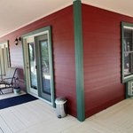 Bldg 1 wrap around covered deck, two private bedrooms/bathrooms & Kitchen/Great Room