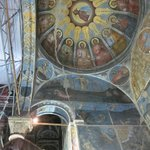 Baptistry with scaffolding
