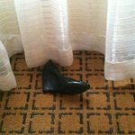 Requested a room w/o constant water sound...got a room with a shoe.