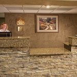 Front Desk with Chaco Stone Work