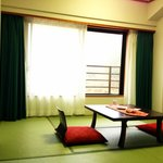 "The tatami area of the ""East-Meets-West"" room"