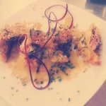Claudia Special. Stuffed shrimp w/ crab & fish. Sesame dressing