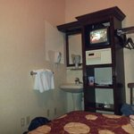 Basic TV and in-room washing facilities. Ideal for NYC on a budget.