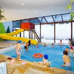 Kids: swimming pool with slide