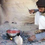 My guide, Saeal, making lunch in the desert (I think I'm spelling his name wrong, but nice guy)