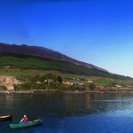 Carlingford Harbour - a stone's throw from our garden, & Slieve Foy mountain
