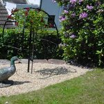 Front garden at The Malthouse B&B