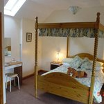 Four-poster double room in 'The Stables' annexe