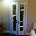 doors to separate the bedroom and main door/bathroom