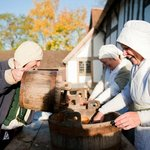 Tudors go about their daily tasks at Mary Arden's Farm