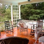 Our breezy porch. Enjoy another cup of coffee here.
