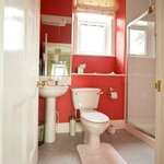 Red shower room - with SUPERB shower.