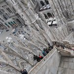 A view from the roof of the Duomo in Milan