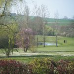  the view of the golf course from the gite