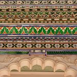 Mirror work detailing at the middle courtyard (Ek Thambia Mahal)