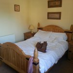 room in cottage clean and warm and quiet