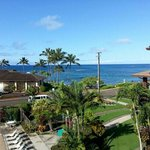 view from Lawai Beach Resort