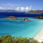 Famous Trunk Bay Beach, US National Park.
