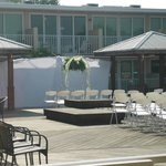  The pool deck where we had the ceremony