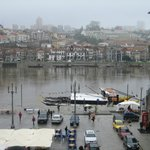  View from the apartment across the River Douro on a wet day