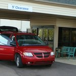  Our van in front of Victorian Inn