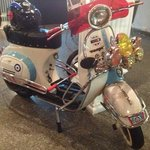 old school Vespa in the gallery