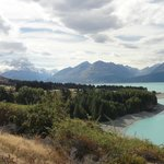  Driving to Mount Cook beside Lake Pukaki