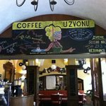 "inside the ""U Zvonu"" Cafe"