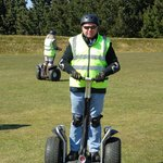 Dad on the segway