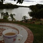 An afternoon cuppa taking in the view
