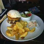homemade burger @ lunch