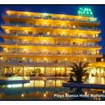 Playa Blance Hotel by night