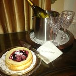 This beautiful delight was waiting for us in our room!! Gluten Free too!!!!