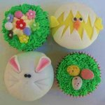 Choice of Easter cupcakes at Krave Deli